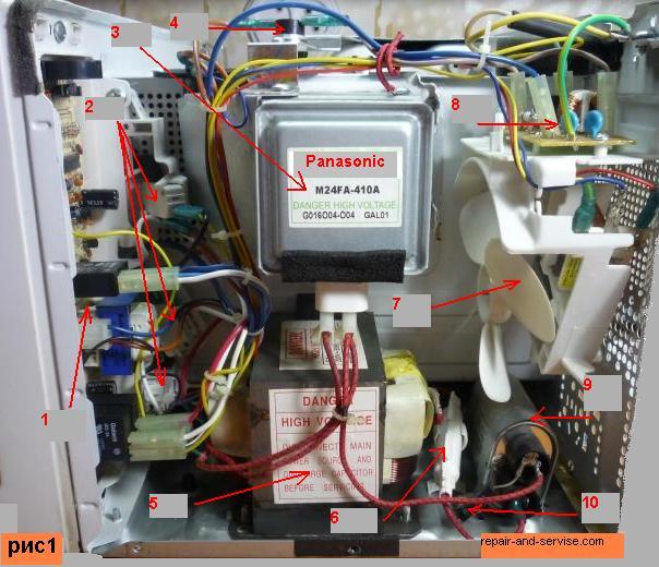 схема ремонт микроволновки