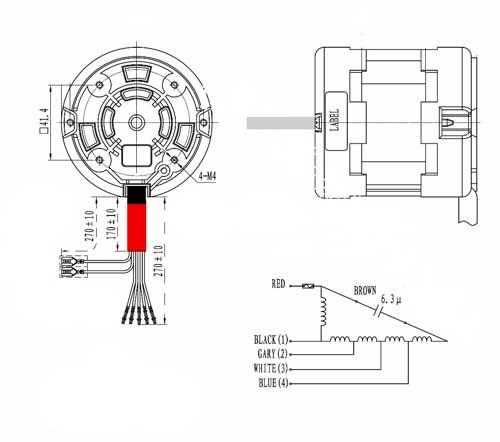 Схема мотора вытяжки