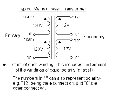 как соединить две первичные и две вторичные обмотки трансформатора