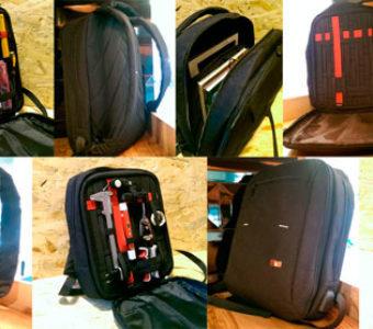 Компактный тонкий стильный прочный рюкзак
